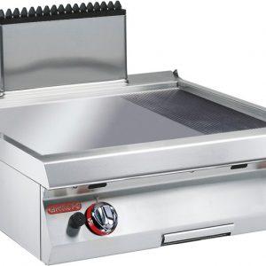 """גרידל (משטח טיגון) גז דגם שולחני בעל משטח מחורץ/חלק 70 ס""""מ, קו בישול 700"""