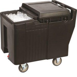 עגלה מבודדת לאחסון קרח 125 ליטר