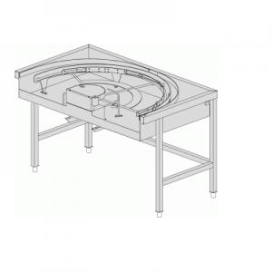 שולחן יציאה 180 מעלות קשתי עם מנגנון מוביל פנימי