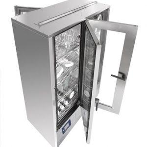 מכונת הדחה ואחסון כלים דו-צדדית בעלת 4 דלתות